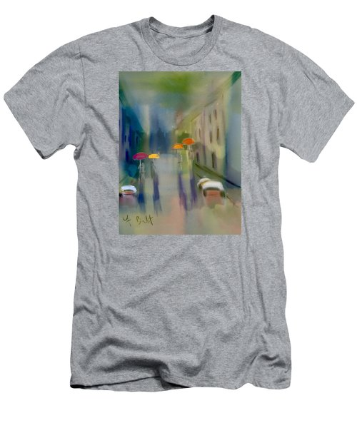 Afternoon Shower In Old San Juan Men's T-Shirt (Slim Fit) by Frank Bright
