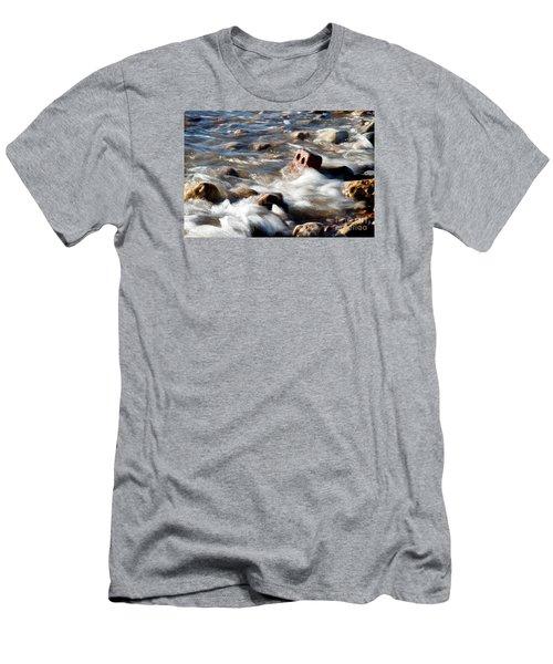 Against The Elaments. Men's T-Shirt (Slim Fit) by Gary Bridger