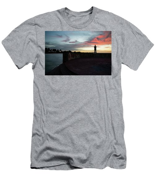 Against The Sky Men's T-Shirt (Athletic Fit)