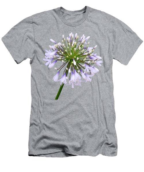 Agapanthus On White Men's T-Shirt (Athletic Fit)