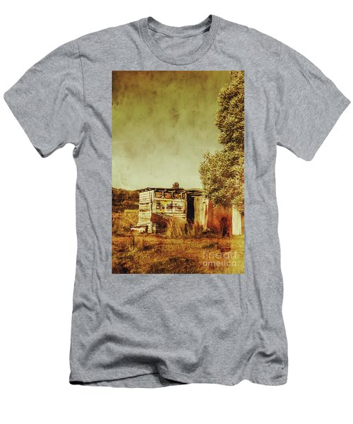 Aged Australia Countryside Scene Men's T-Shirt (Athletic Fit)