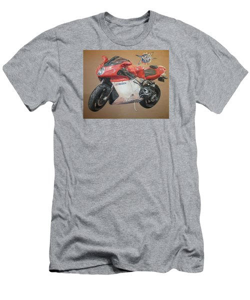 Men's T-Shirt (Slim Fit) featuring the painting Agusta by Cherise Foster