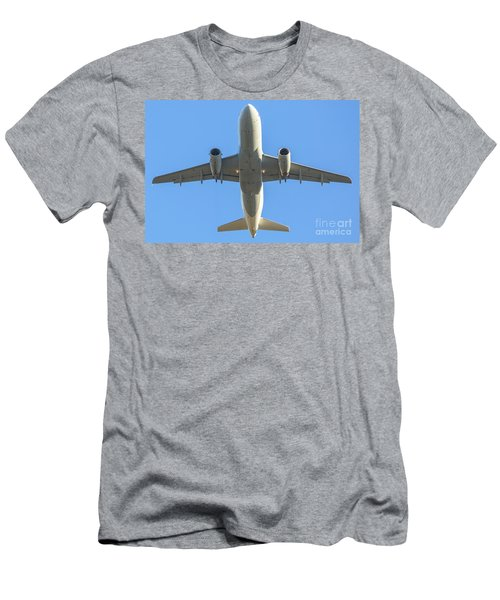 Airplane Isolated In The Sky Men's T-Shirt (Athletic Fit)