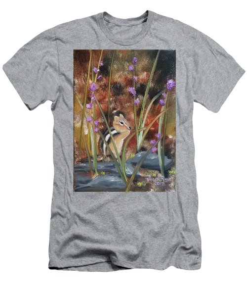 Men's T-Shirt (Athletic Fit) featuring the painting Al Fresco Dining With A View by Judith Rhue
