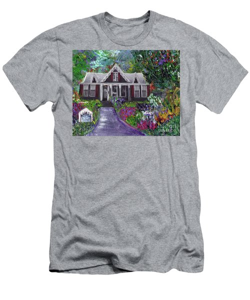 Alameda 1854 Gothic Revival - The Webster House Men's T-Shirt (Slim Fit) by Linda Weinstock