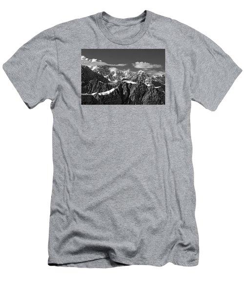 Alaska Mountain Range Black And White Men's T-Shirt (Athletic Fit)