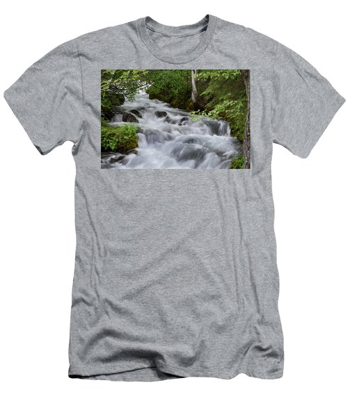 Alaska Waterfall Picture  Men's T-Shirt (Athletic Fit)