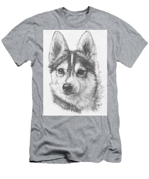 Alaskan Klee Kai Men's T-Shirt (Slim Fit) by Barbara Keith
