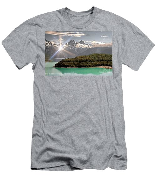 Alaskan Mountain Reflection Men's T-Shirt (Athletic Fit)