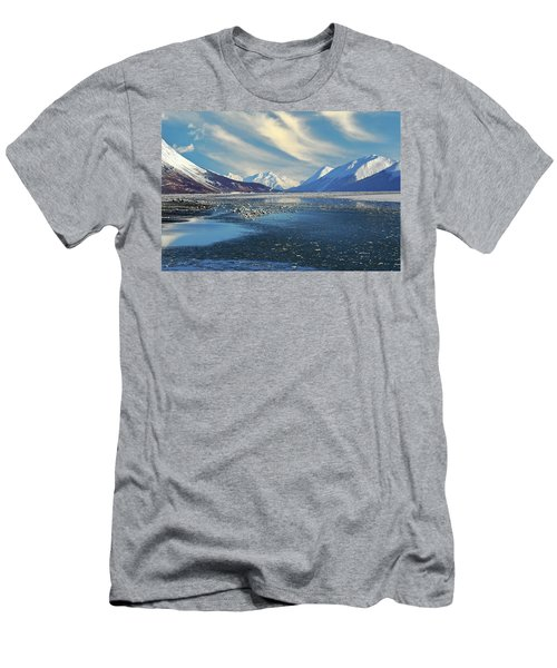 Alaskan Winter Landscape Men's T-Shirt (Athletic Fit)