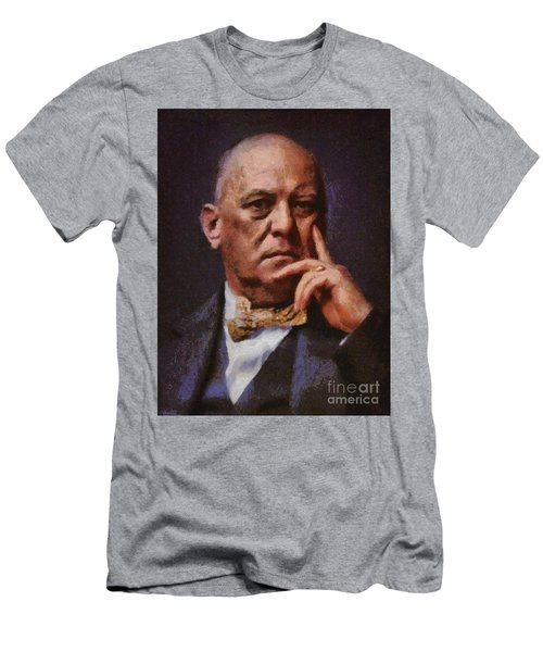 Aleister Crowley, Infamous Occultist Men's T-Shirt (Athletic Fit)