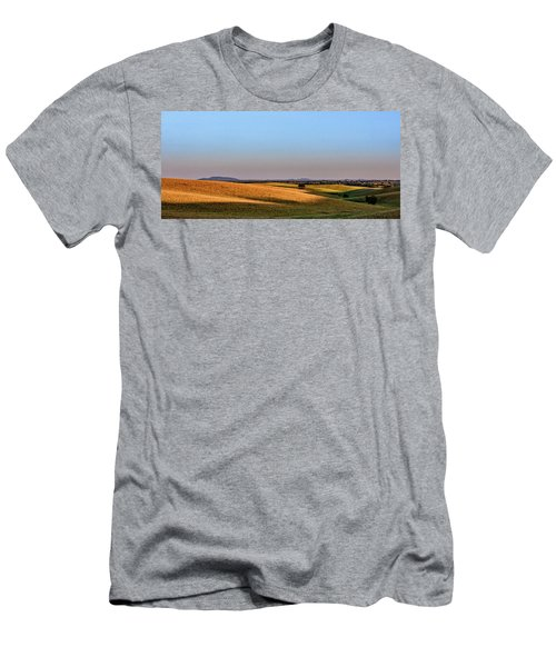 Men's T-Shirt (Slim Fit) featuring the photograph Alentejo Fields by Marion McCristall