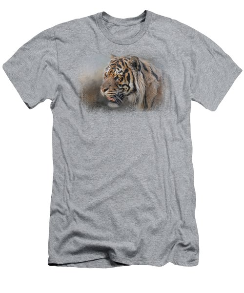 Alert Bengal Men's T-Shirt (Slim Fit) by Jai Johnson