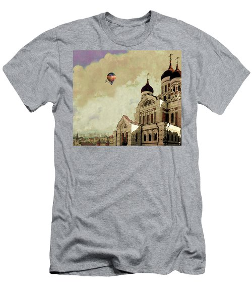 Alexander Nevsky Cathedral In Tallin, Estonia, My Memory. Men's T-Shirt (Slim Fit)