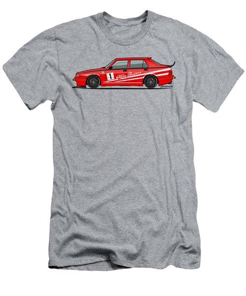 Alfa Romeo 75 Tipo 161 Works Corse Competizione Rosso Men's T-Shirt (Athletic Fit)