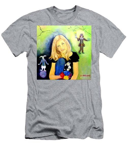Alice In Garden Men's T-Shirt (Athletic Fit)