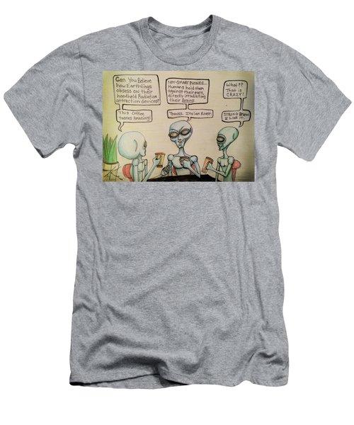 Alien Friends Coffee Talk About Cellular Men's T-Shirt (Athletic Fit)