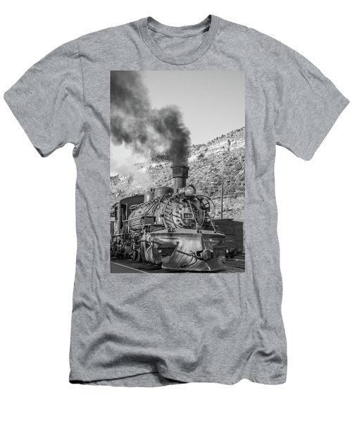 Men's T-Shirt (Athletic Fit) featuring the photograph All Aboard by Colleen Coccia