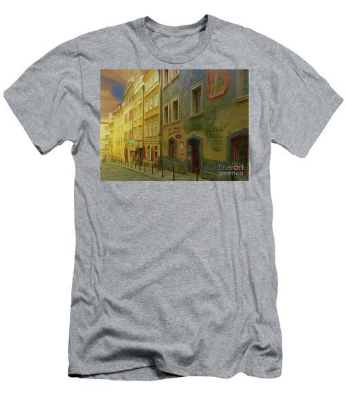 All Downhill From Here - Prague Street Scene Men's T-Shirt (Athletic Fit)