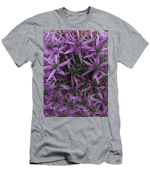 Allium Stars  Men's T-Shirt (Slim Fit) by Kathy Spall