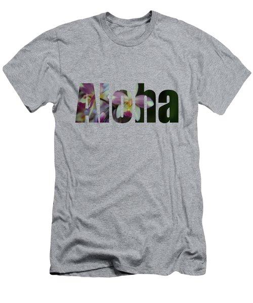 Aloha Orchids Type Men's T-Shirt (Slim Fit) by Kerri Ligatich