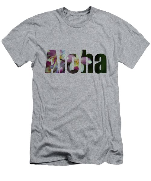 Aloha Orchids Type Men's T-Shirt (Athletic Fit)