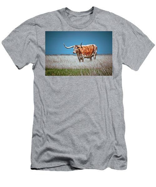 Men's T-Shirt (Slim Fit) featuring the photograph Alone On The Trail by Linda Unger