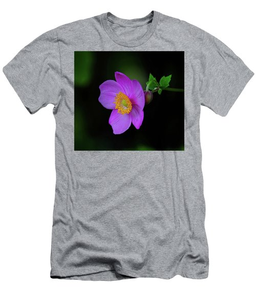 Anenome Purple Men's T-Shirt (Slim Fit) by Ronda Ryan