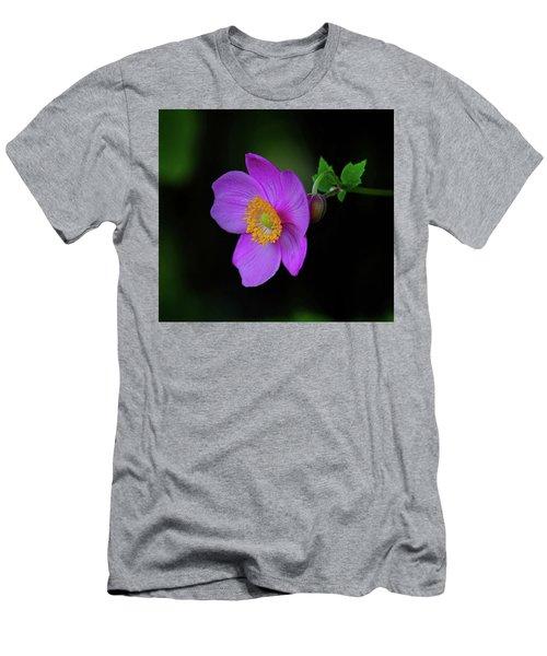 Anenome Purple Men's T-Shirt (Athletic Fit)