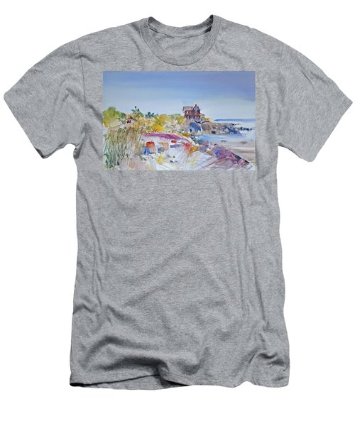 Along The Coast Men's T-Shirt (Slim Fit) by P Anthony Visco