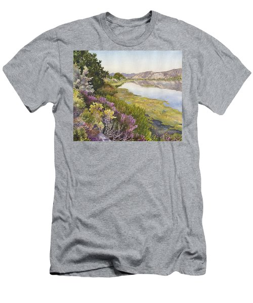 Men's T-Shirt (Slim Fit) featuring the painting Along The Oregon Trail by Anne Gifford