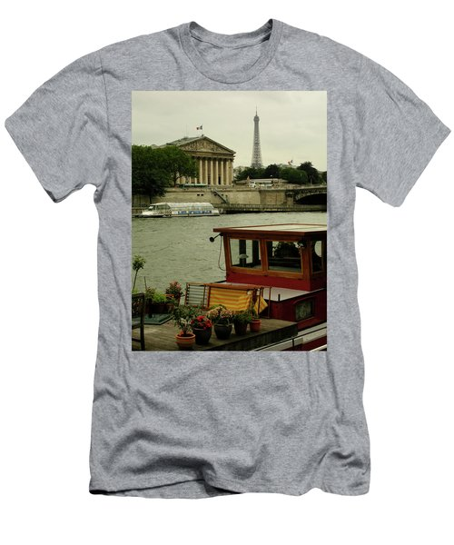 Along The Seine Men's T-Shirt (Athletic Fit)