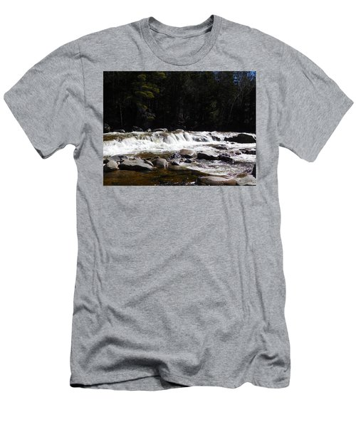 Along The Swift River Men's T-Shirt (Slim Fit) by Catherine Gagne