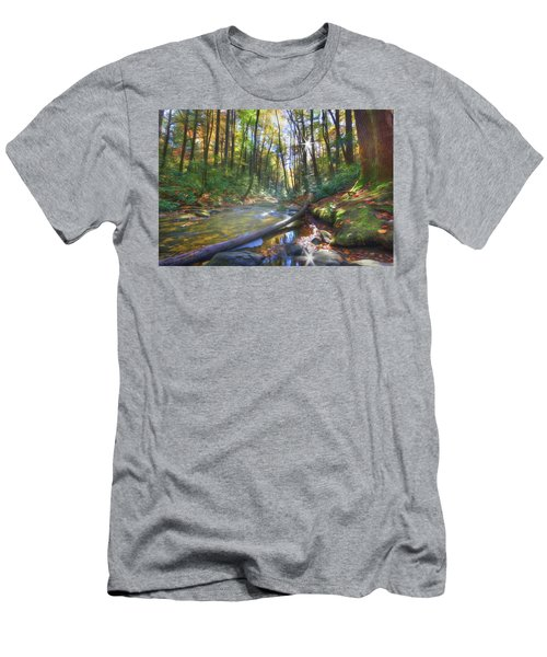 Men's T-Shirt (Slim Fit) featuring the digital art Along The Trail In Georgia by Sharon Batdorf