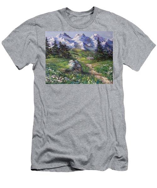 Alpine Splendor Men's T-Shirt (Slim Fit) by Megan Walsh