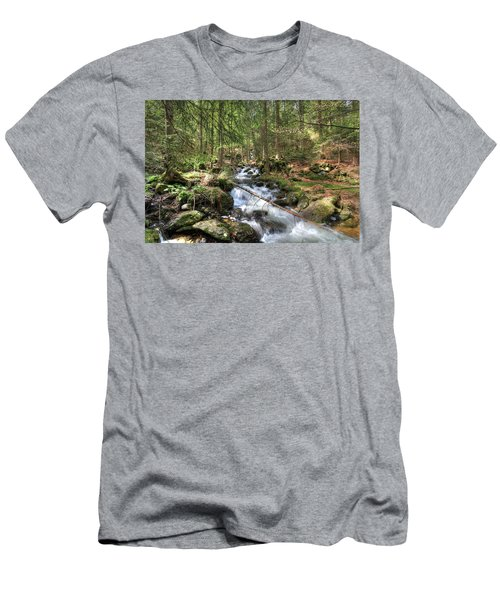 Alpine Water Falls Men's T-Shirt (Athletic Fit)