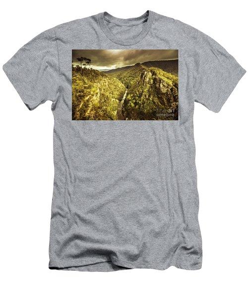 Alum Cliffs, Tasmania, Australia Men's T-Shirt (Athletic Fit)