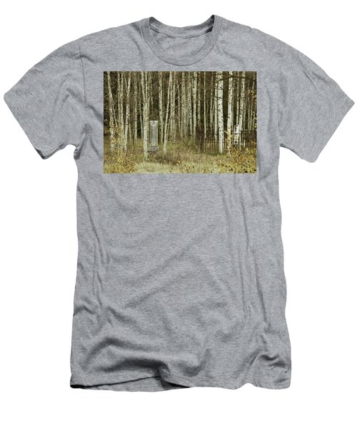 Men's T-Shirt (Slim Fit) featuring the photograph Alvarado Cemetery 42 by Marie Leslie