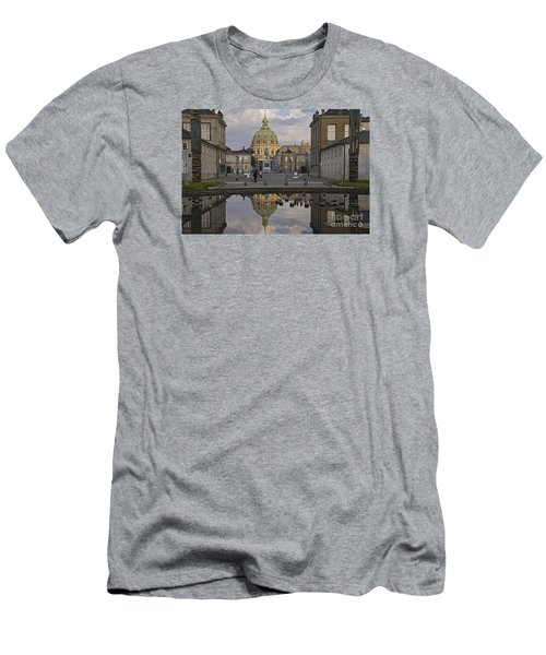 Men's T-Shirt (Slim Fit) featuring the photograph Amalienborg Castle And The Marble Church by Inge Riis McDonald