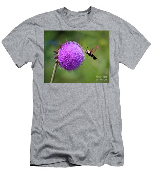 Men's T-Shirt (Athletic Fit) featuring the photograph Amazing Insects - Hummingbird Moth by Kerri Farley