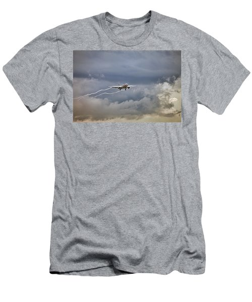 American Aircraft Landing Men's T-Shirt (Athletic Fit)