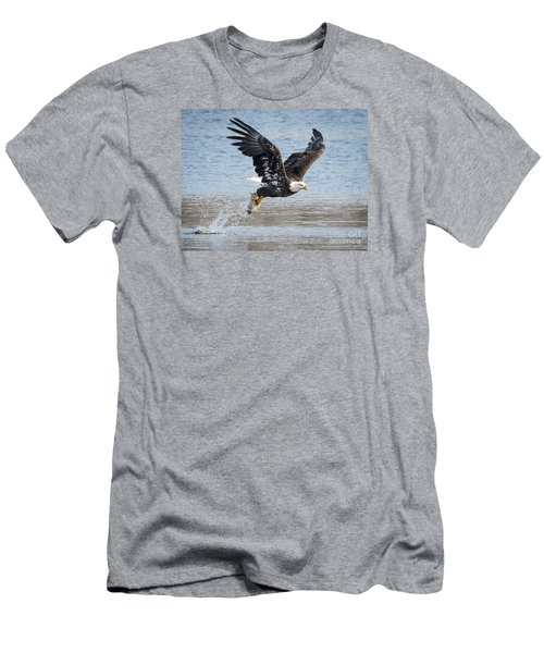 American Bald Eagle Taking Off Men's T-Shirt (Slim Fit) by Ricky L Jones