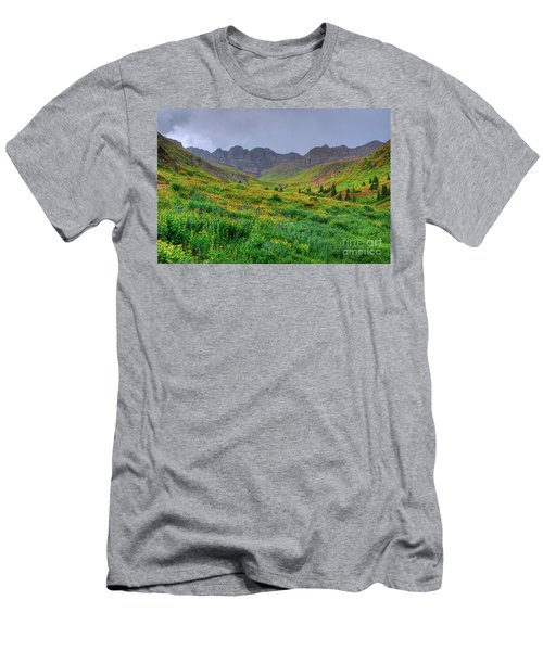 Men's T-Shirt (Slim Fit) featuring the photograph American Basin Summer Storm by Teri Atkins Brown