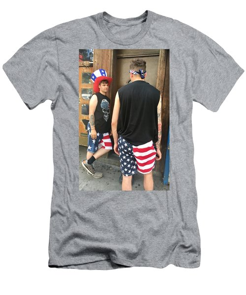Men's T-Shirt (Athletic Fit) featuring the photograph American Boy by Joan Reese