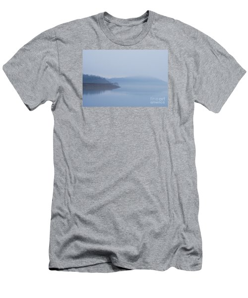 American Coot In Misty Fog 20120316_40a Men's T-Shirt (Slim Fit) by Tina Hopkins