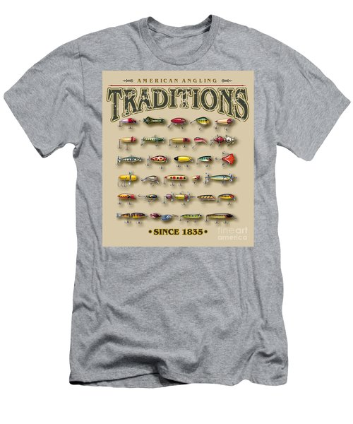 American Traditions Lures Men's T-Shirt (Slim Fit) by JQ Licensing Jon Q Wright