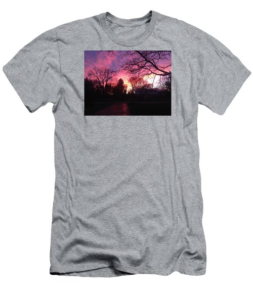 Men's T-Shirt (Slim Fit) featuring the photograph Amethyst Sunset by Rebecca Wood
