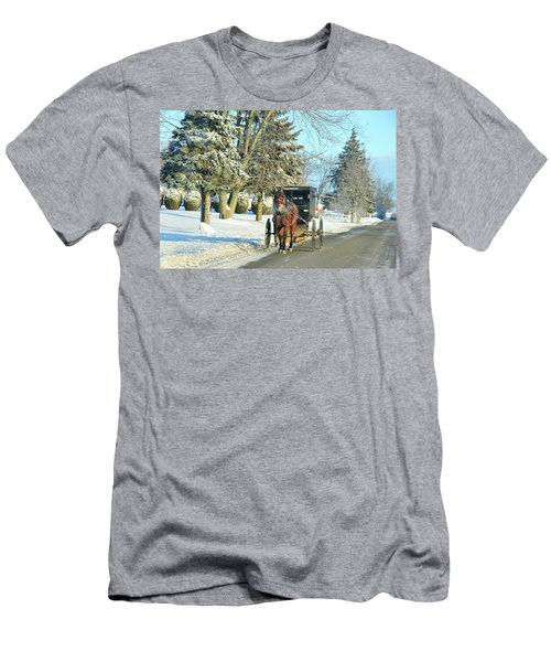 Amish Winter Men's T-Shirt (Athletic Fit)