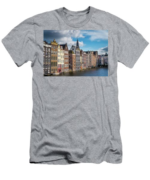 Amsterdam Buildings Men's T-Shirt (Athletic Fit)