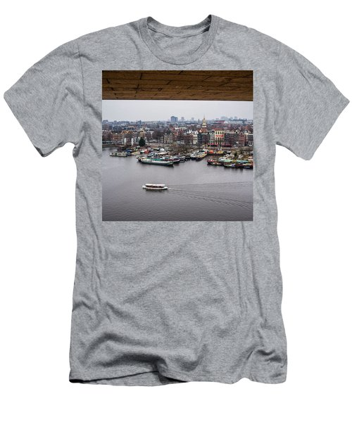 Amsterdam Skyline Men's T-Shirt (Slim Fit) by Aleck Cartwright